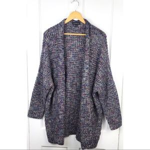 Lane Bryant Colorful & Metallic Knit Open Cardigan